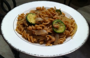 Rotini with Zucchini and Cannellini Beans