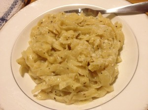 Lemony Pasta with Homemade Noodles
