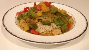 Sweet and Sour Veggies Over Rice