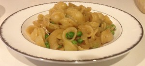 Orecchiette with Peas