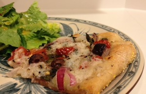 Pizza with Homemade Vegan Cheese