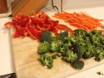 Carrots, Broccoli, and Pepper