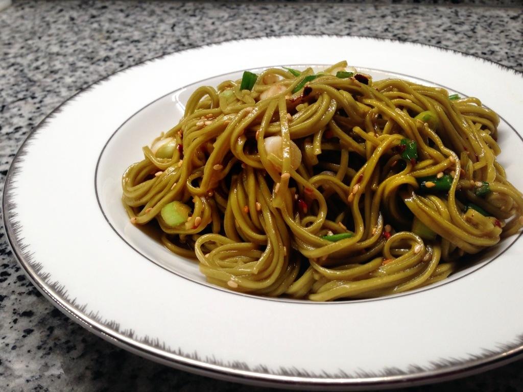 how to make green tea soba noodles
