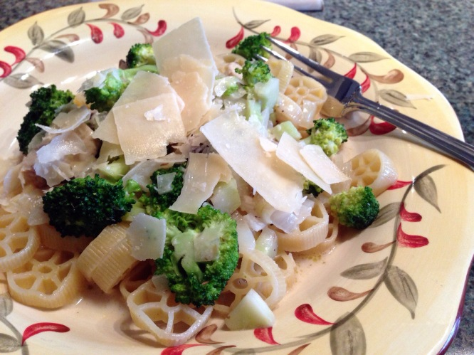 "Pasta with Broccoli and ""Chicken"""