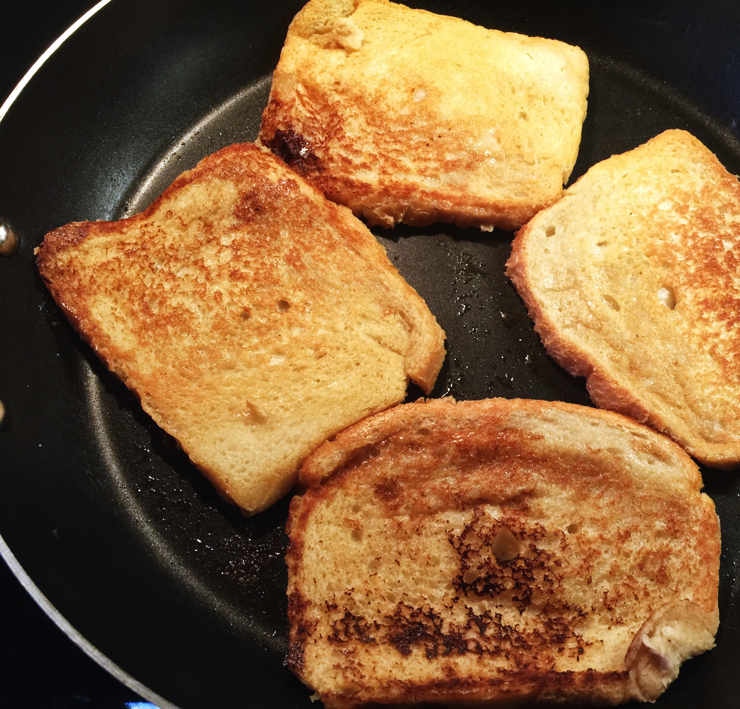 Cooking the toast